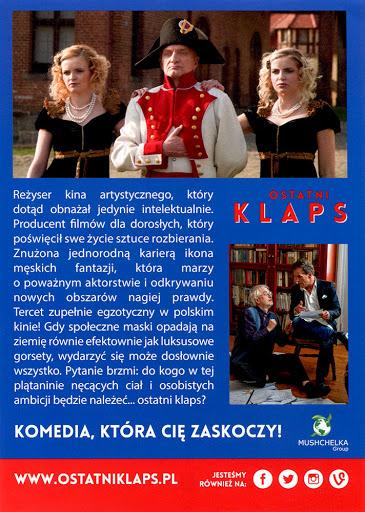 Tył ulotki filmu 'Ostatni Klaps'