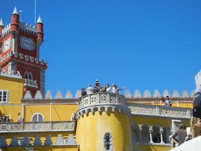 Photo: Walking around the rooftop, Pena Palace