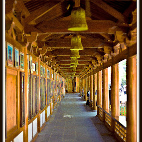 Wooden Cloister by Xiufen Gu - Buildings & Architecture Architectural Detail ( wooden, suzhou, whs, worldheritagesite, unesco, china,  )