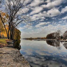Lachine Canal Quebec Canada by Costas Tsirgiotis - Landscapes Travel