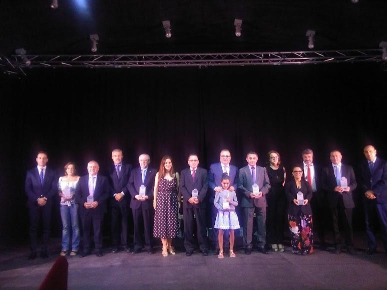 Foto de familia tras la quinta edición de los Premios Nacimiento de LA VOZ.