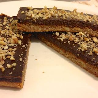 Chocolate Pecan Bars - low carb and grain free.