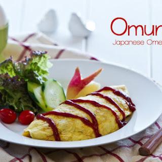 Omurice (Japanese Omelette Rice)