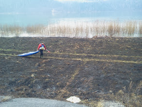 Photo: jeszcze trochę marszu po wypalonej trawie...