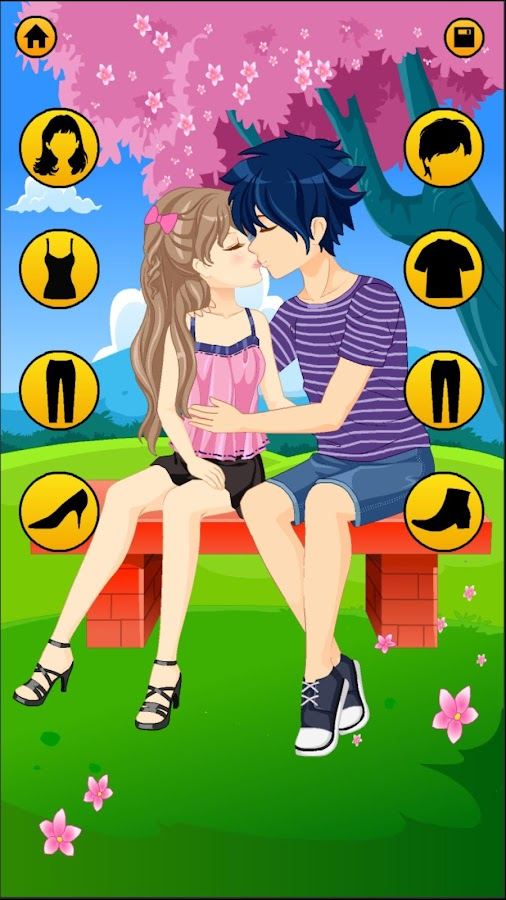 Anime Dress Up Games For Girls - Couple Love Kiss - Android Apps ...