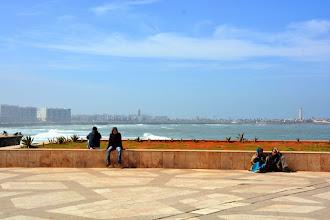Photo: The Atlantic bay of Casablanca