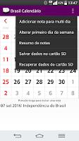 Screenshot of Brasil Calendário 2016 NoAds