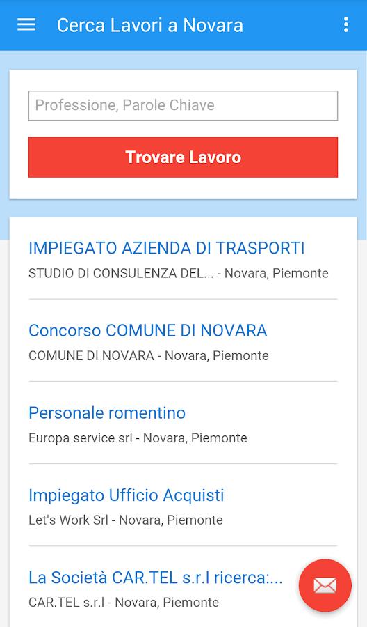 Offerte di lavoro novara android apps on google play - Offerte di lavoro piastrellista ...