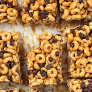 No-Bake Peanut Butter Cereal Bars.