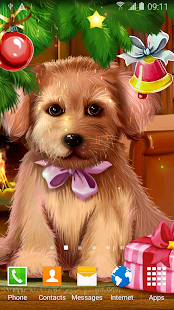 Christmas Puppy Live Wallpaper - náhled
