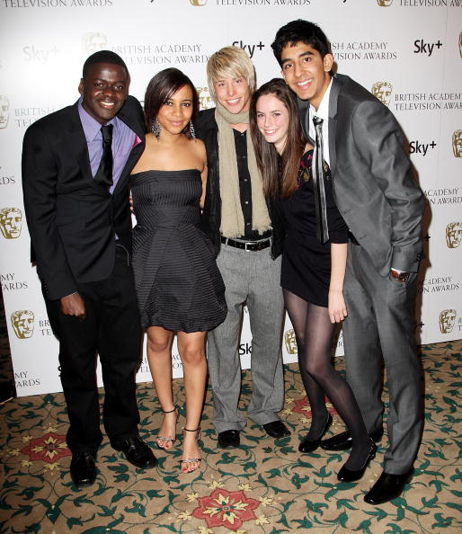 Daniel Kaluuya (left) with cast mates from UK series, Skins.