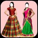 Women Pattu Dress Photo Suit icon