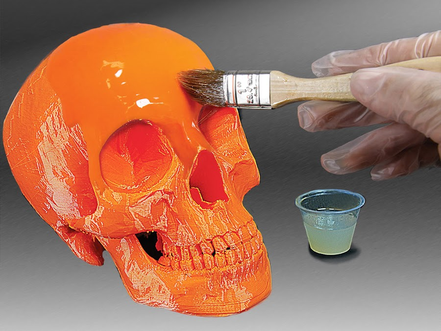 XTC-3D flows and eliminates all striations and brush strokes as it cures.