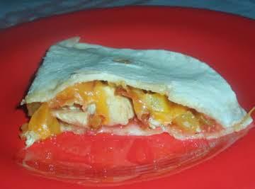 Raspberry Chipotle Chicken Tortillas