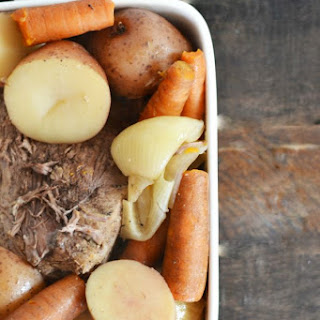 Pot Roast and Veggies in the Crock Pot.