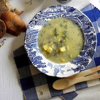 Rhubarb Mushroom Soup.