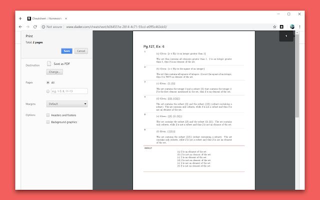 Slader Binder - Slader CheatSheet PDF Creator