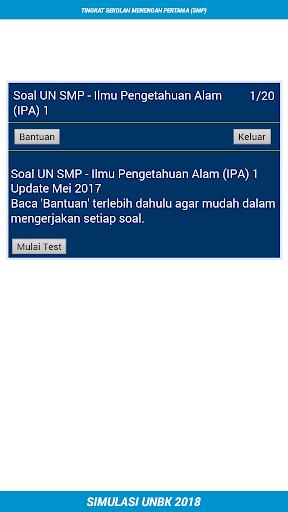 UNBK SMP 2018 (Ujian Nasional) 1.2 screenshots 6