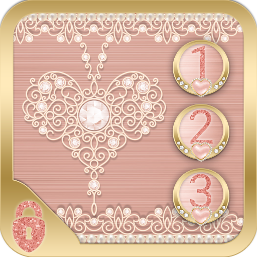 Rose Gold Locker Diamond Heart Theme