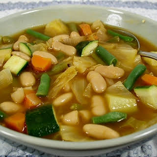 Garden Vegetable and Bean Soup.
