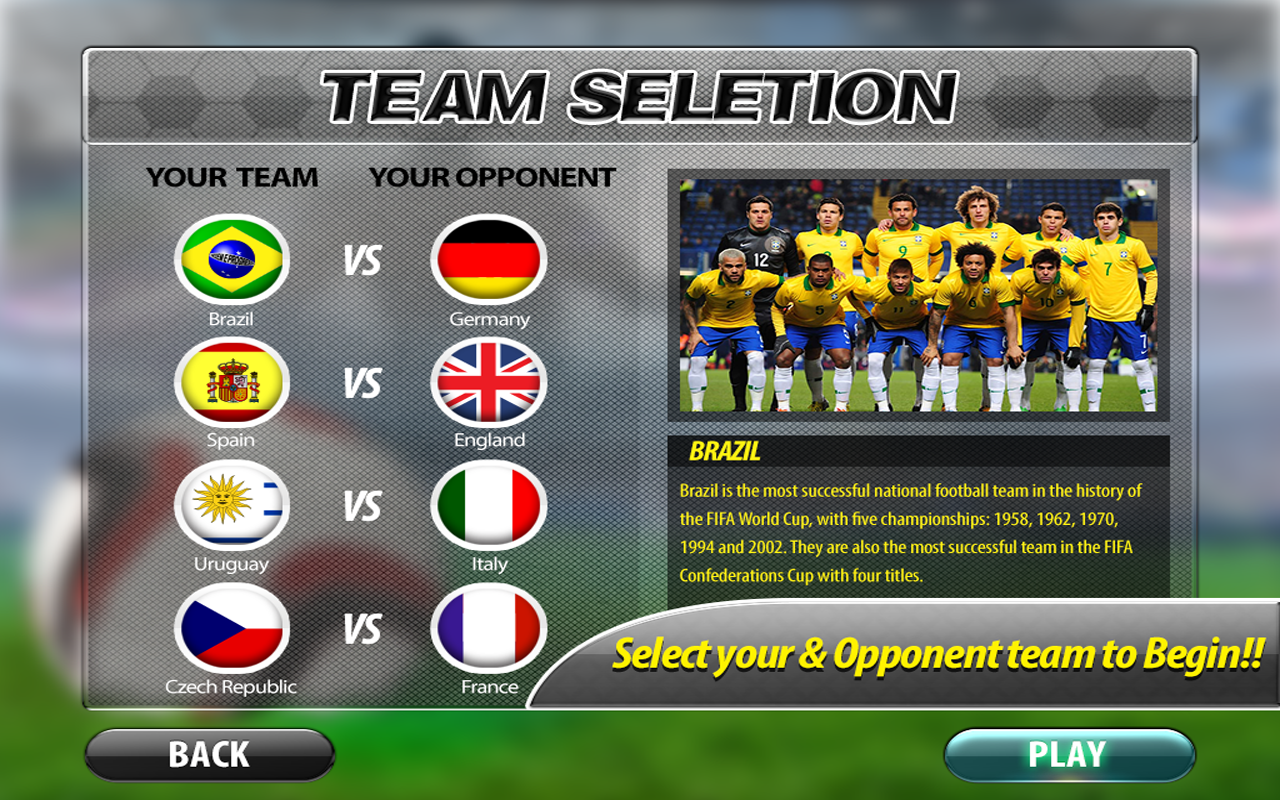 Download best football or soccer games for android in 2014 - Football Wc 2014 Soccer Stars Screenshot