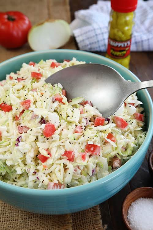 "Aunt Mary's Pepper Sauce Coleslaw ""Now, I wasn't fortunate enough to get..."
