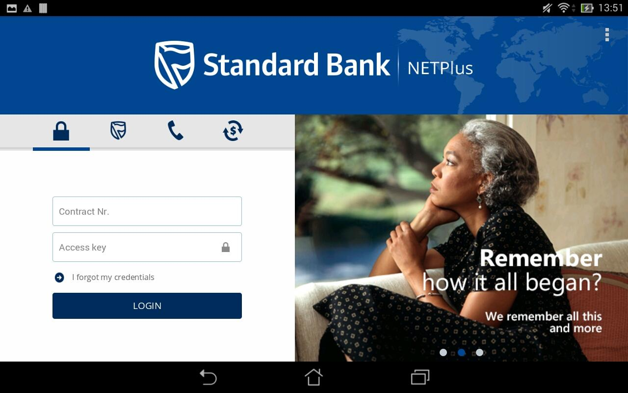 Standard bank business online - Standard Bank Mz Netplus App Screenshot