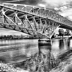 by Stacey Nagy - Buildings & Architecture Bridges & Suspended Structures ( shreveport, red river, bridge, structures )