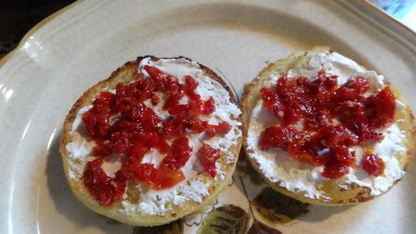 Add 1 TBS sun dried tomatoes, chopped fine
