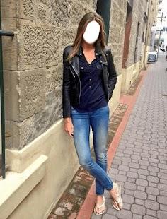 Girls Blue Jeans Selfie - náhled