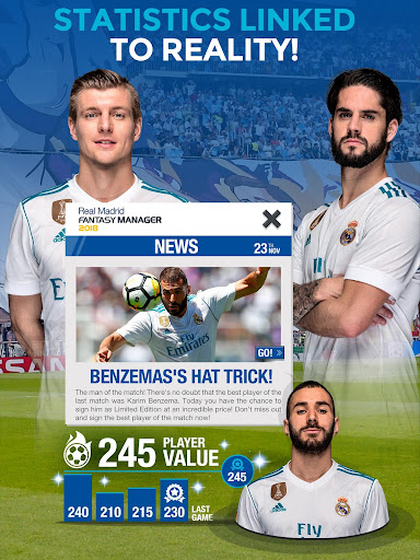 Real Madrid Fantasy Manager'18- Real football live 7.30.004 screenshots 14