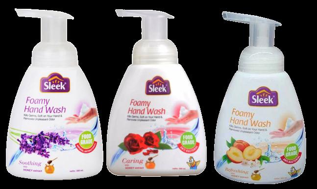 foamy hand wash sleek