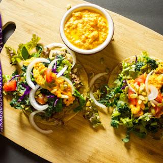 Tostada Salad | Carrot and Radish Dressing