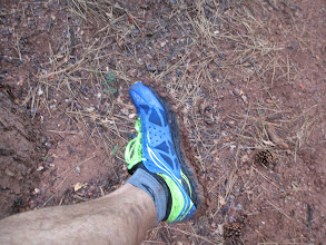 Photo: Mud is sticking to our shoes, they weigh a ton!