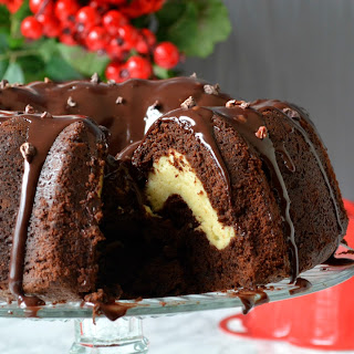Chocolate Cake With Cheesecake Filling Recipes