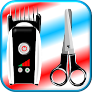 Cutting hair machine-Scissors prank hairdressing