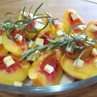 Baked Peaches with Rosemary.