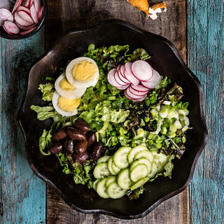 Easter Salad {eggs, Olives + Radishes}