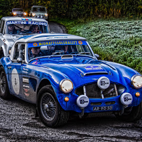 The race  by Andrew Lancaster - Transportation Automobiles ( cars, racing, race, ecosse, mini, martini, austin, races, healey, rally, tour,  )