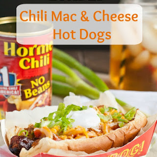 Loaded Chili Mac and Cheese Hot Dogs