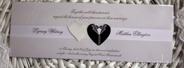Photo: Pozivnica BRIDE & GROOM Šifra: 50603 Cijena: 15,50