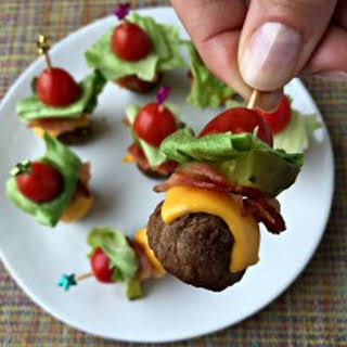 Bacon Cheeseburger Meatballs.