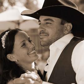 Cowboy Style by Joe Fernandez - Wedding Old - Dancing ( wedding, bride, dance, groom, Wedding, Weddings, Marriage )