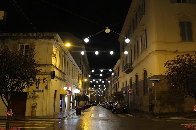 Una via cittadina di notte di Pretoriano
