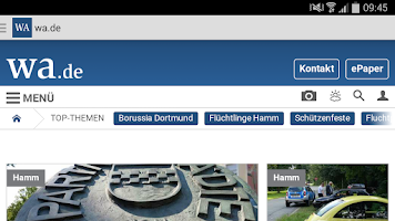 Screenshot of WA.de