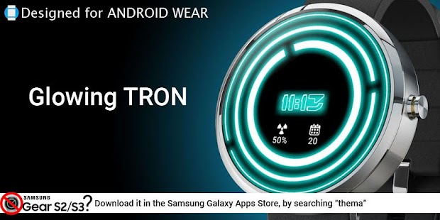 Glowing ElecTRONic Watch Face- screenshot thumbnail
