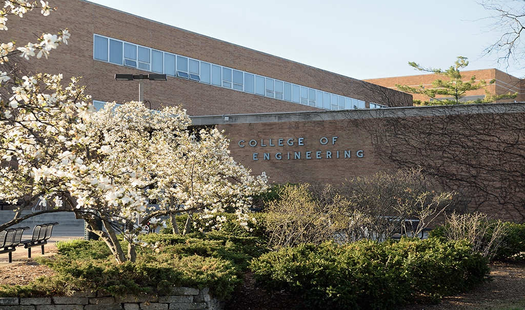 Image of Engineering Building at Michigan State University from North-West entrance