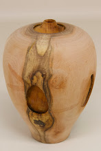 "Photo: Eliot Feldman 4"" x 6"" vessel within a vessel [cherry & mahogany]"