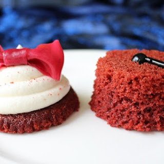 Doctor Who Red Velvet Cupcake Bowtie and Fez