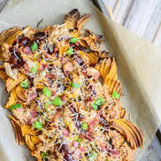 BBQ Chicken Sweet Potato Nachos